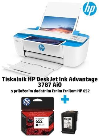 HP brizgalni tiskalnik All In One DeskJet Ink Advantage 3787 (T8W48C)