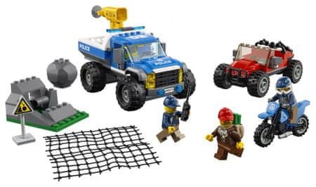 LEGO City Police 60172 Zasledovanje po makadamski cesti