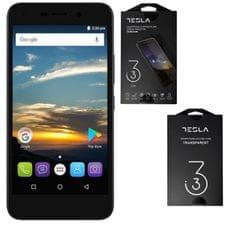 Tesla GSM telefon 3.3 komplet z zaščito, temno siv