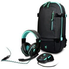 """Port Designs Pakiet AROKH 2, mysz (X-1) + słuchawkowe (H-1) + plecak (BP1) na 15,6 """"NB (TASRP0323)"""