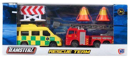 Teamsterz Mentő- és tűzoltóautó szett