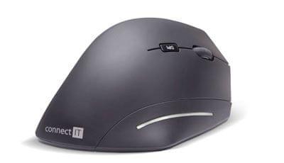Connect IT FOR HEALTH ergonomická vertikální myš, bezdrátová (CMO-2510-BK)