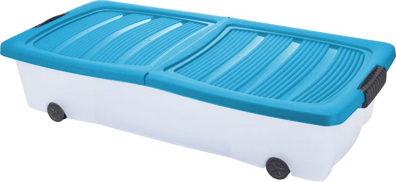 KAISERHOFF Pojízdný úložný box s víkem 32 l, tyrkysová