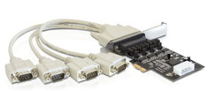 Delock kartica PCI Express Serijska 4xRS232, Low-Profile