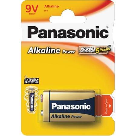Panasonic baterie alkaliczne Alkaline Power 9V 6LR61 1BP