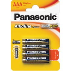 PANASONIC Alkaline Power AAA LR03 4BP