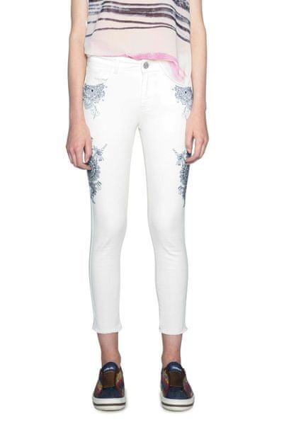 Desigual dámské kalhoty 34 bílá