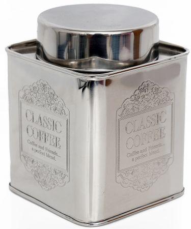 Sifcon Dóza malá, stříbrná, káva