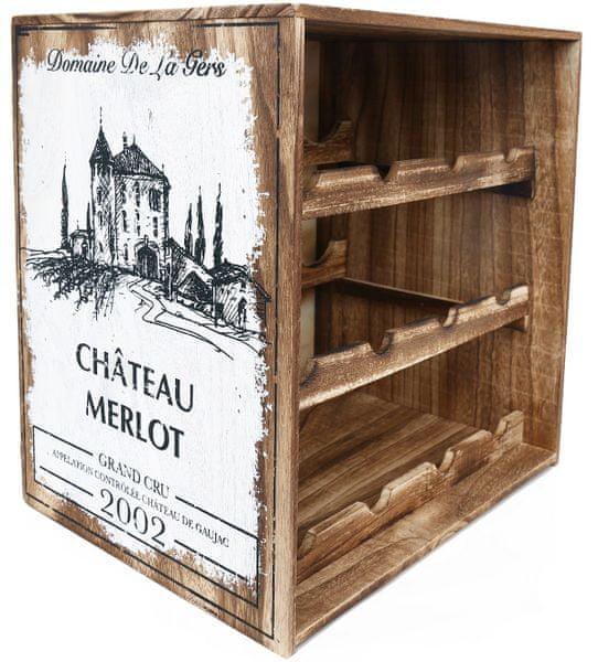 Sifcon Stojan na víno, dřevěný