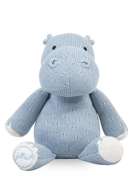 Jollein Stuffeld animal Soft knit hippo blue