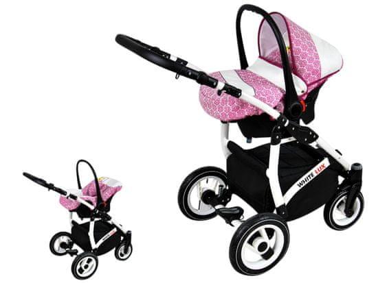 Sun Baby Wózek wielofunkcyjny White lux 3w1