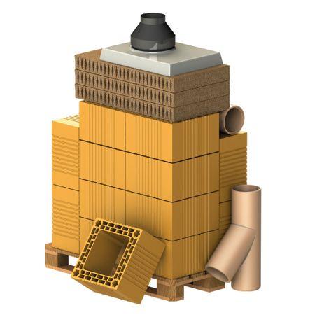 Almeva Komplet komín BRICK, DN 160, 45°, základní set