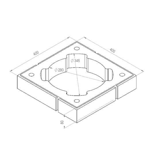 Almeva DEKOR 1P HNĚDÁ, Komínová tvárnice betonová