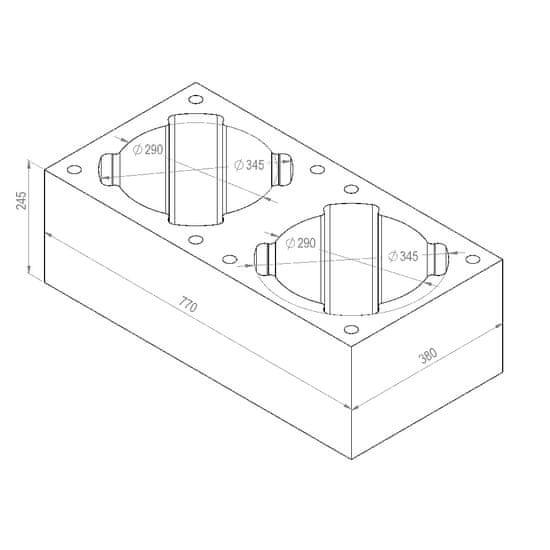Almeva Tvárnice CLASSIC, dvouprůduchová