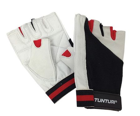 Tunturi fitnes rokavice Fit Control, črno-bele M