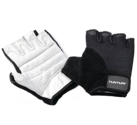 Tunturi fitnes rokavice Fit Easy, črno-bele M