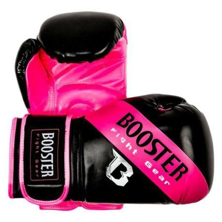 Boks rokavice Booster, črno-roza, 10 oz