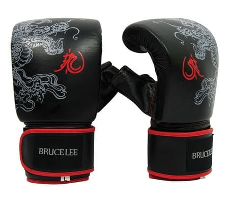 Boksarske rokavice za vrečo, L, črno-rdeče
