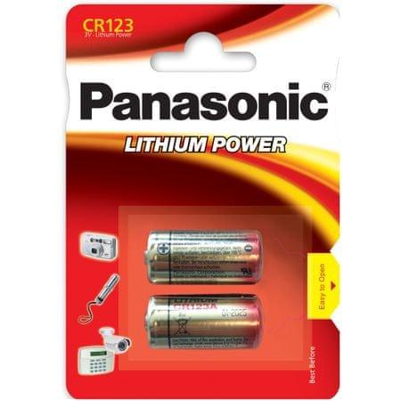 Panasonic baterija Photo Lithium CR123 2BP, 2 kos