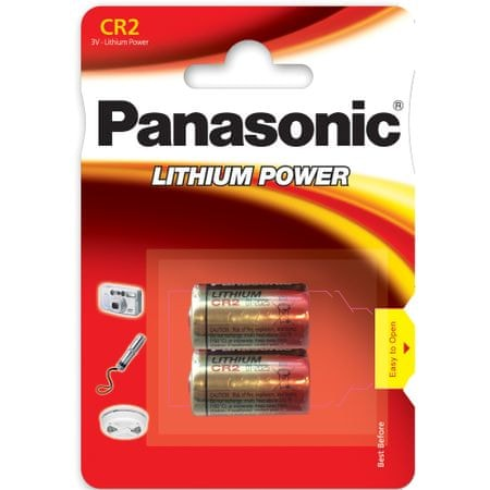 Panasonic baterija Photo Lithium CR2 2BP, 2 kosa