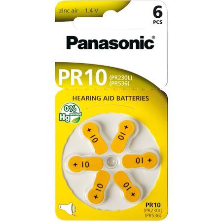 Panasonic baterije ZINC AIR AZ10/V10/PR230 6BL, 6 kosov
