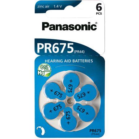 Panasonic baterije ZINC AIR AZ675/V675/PR675 6BL, 6 kosov