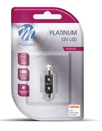 M-Tech žarnica LED C5W 12V CANBUS 36mm 2x HP, bela