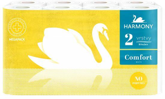 Harmony Toaletný papier Comfort 2-vrstvový 16 kotúčov