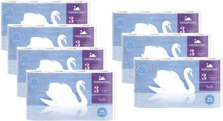 Harmony Toaletný papier Soft 3-vrstvový 7 x 8 kotúčov