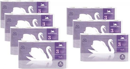 Harmony toaletni papir Soft Flora, 3-slojni, 7 x 8 rol