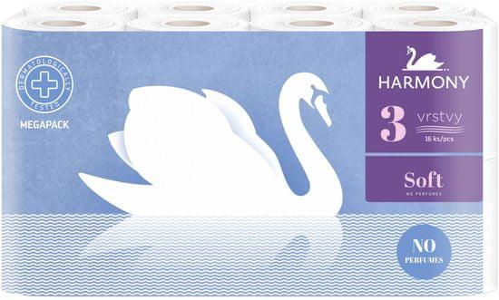 Harmony toaletni papir Soft Cream, 3-slojni, 16 rol