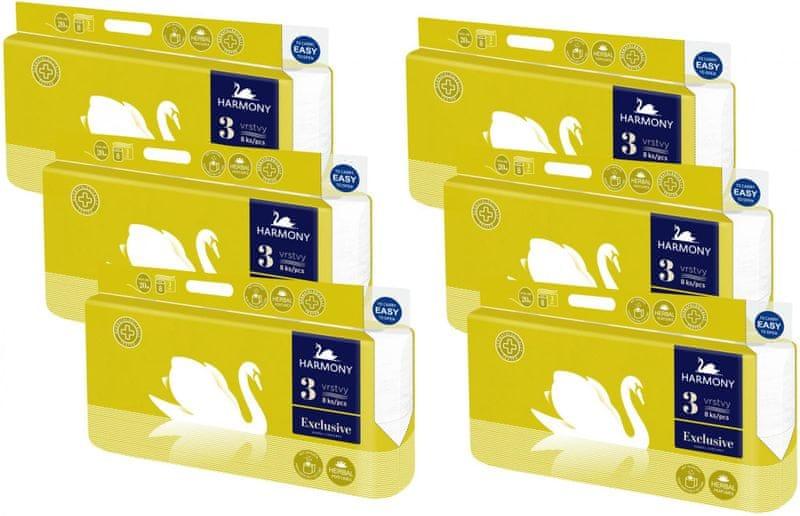 Harmony Toaletní papír Exclusive Herbal 3-vrstvý 6 x 8 rolí