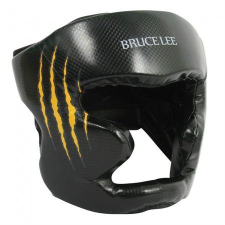 Bruce Lee ščitnik za glavo, črno-rumen, L