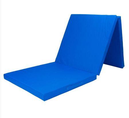 Tunturi zložljiva blazina za vadbo iz pene, 180 x 60 cm, modra
