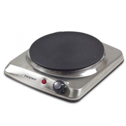 Beper 90820 jednoplotýnkový nerez elektrický vařič