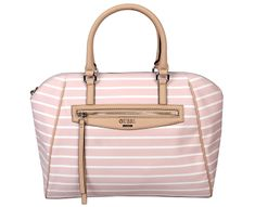 Guess Dámská kabelka Factory Women`s Claire Maine Striped Satchel