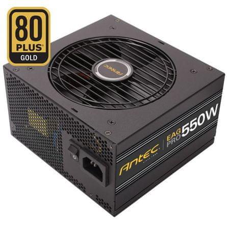Antec modularni ATX napajalnik EarthWatts Gold Pro EA550G, 550W, 80Plus Gold