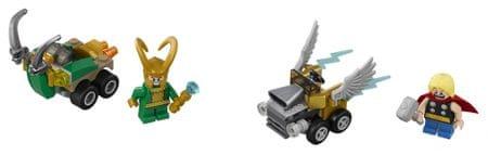 LEGO Super Heroes 76091 Mogočni mikri: Thor proti Lokiju