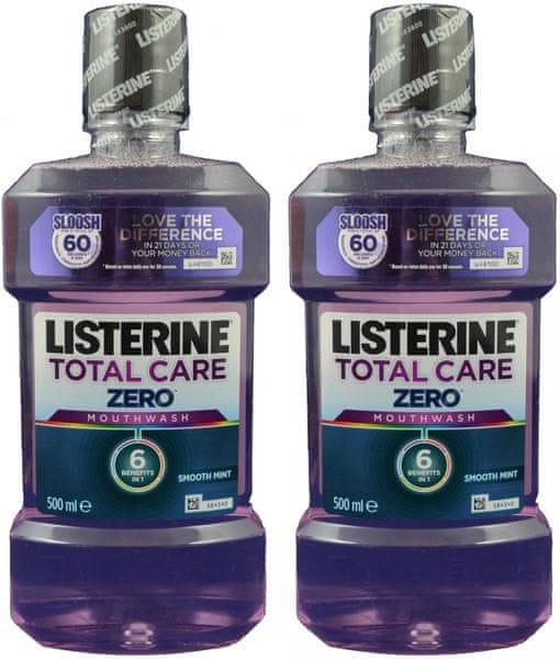 Listerine Total Care Zero ústní voda 2 x 500 ml