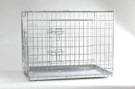 Beeztees Kétajtós fémketrec, 121 x 78 x 84 cm