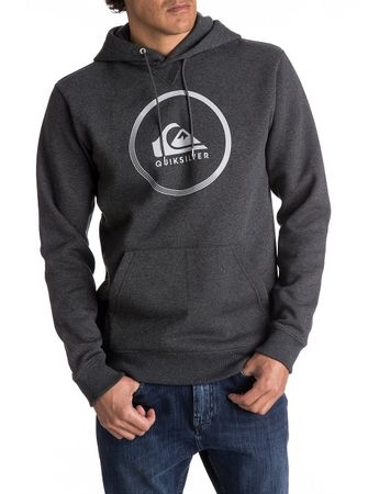 Quiksilver Big Logo Hood Dark Grey Heather XXL
