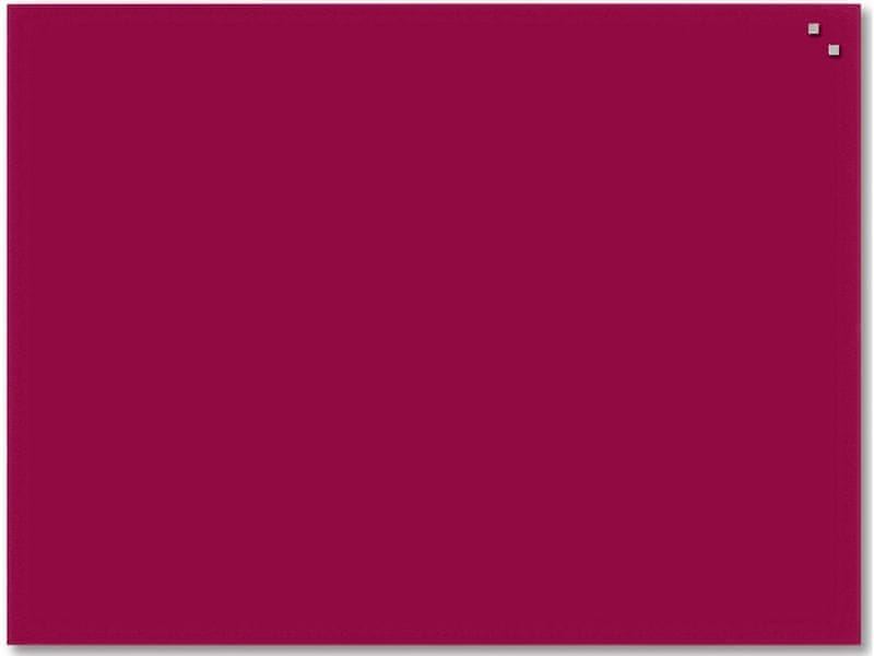 Skleněná magnetická tabule NAGA červená 60x80 cm