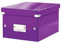 Krabice CLICK & STORE WOW malá archivační, purpurová