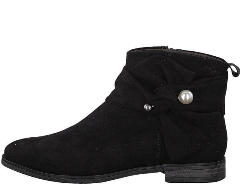 s.Oliver dámská kotníčková obuv 36 černá