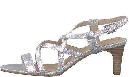 s.Oliver ženski sandali, 38, srebrne