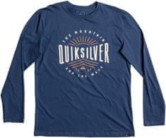 Quiksilver moška majica LsClassicTeeMadWave, temno modra