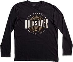 Quiksilver moška majica LsClassicTeeMadWave, črna