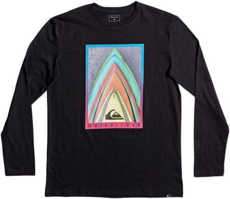 Quiksilver moška majica LsClassicTeeStacked, črna, S
