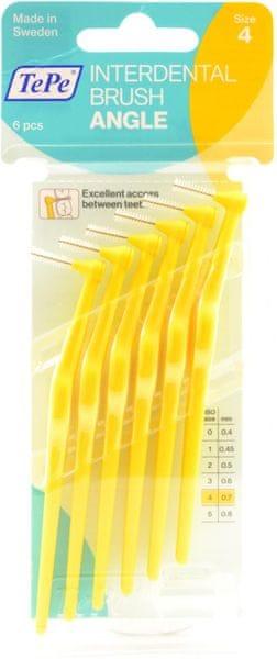 Tepe Mezizubní kartáčky Angle 0,7 mm žlutý 2 x 6 ks