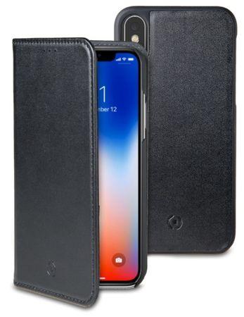 Celly Magnetické pouzdro CELLY GHOSTWALLY pro Apple iPhone X, kompatibilní s GHOST držáky, černé